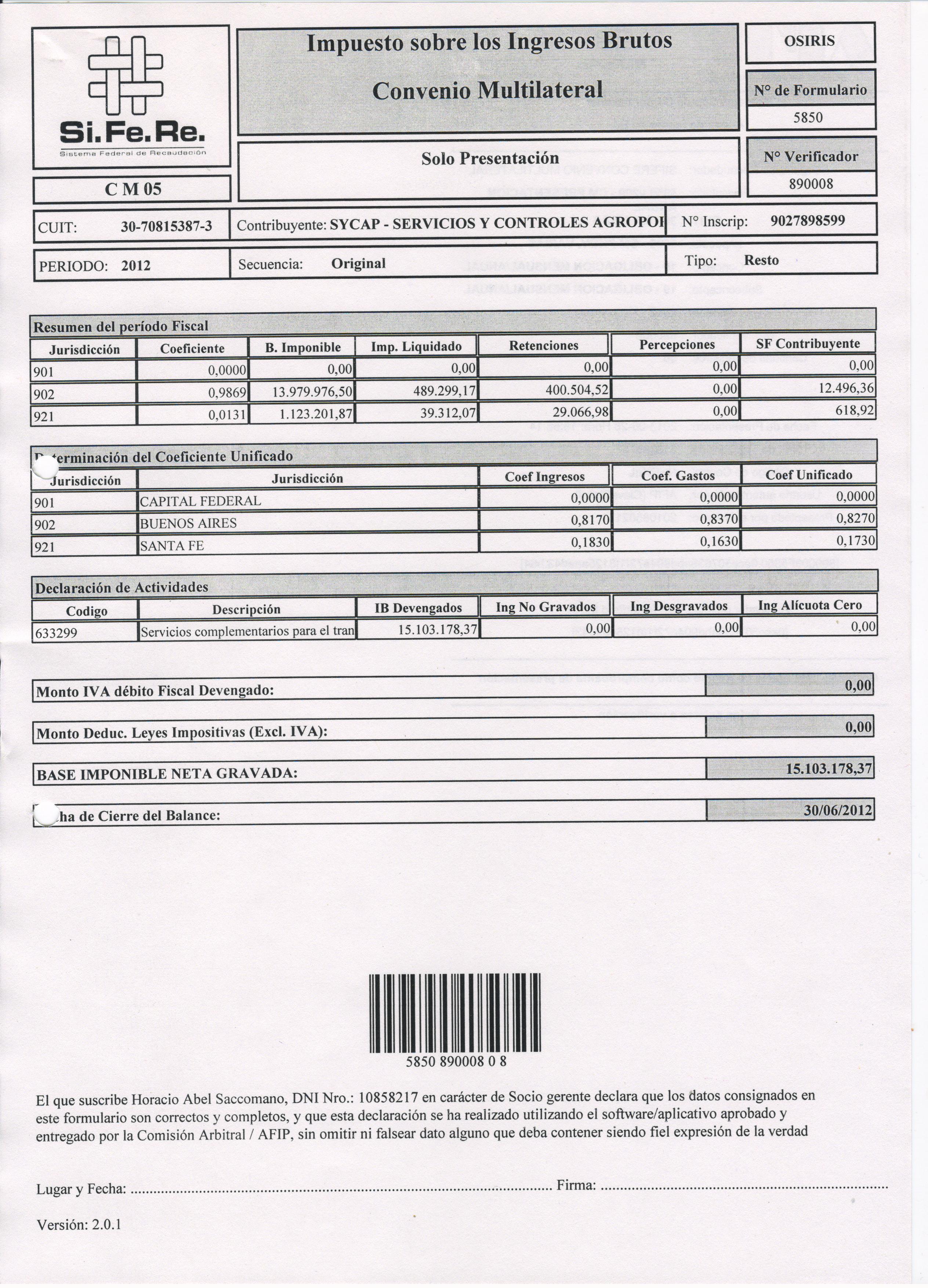 Constancia de inscripcin a ingresos brutos sycap controles for Inscripcion ingresos brutos
